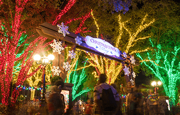 Holiday Lights at Christmas Town In Busch Gardens