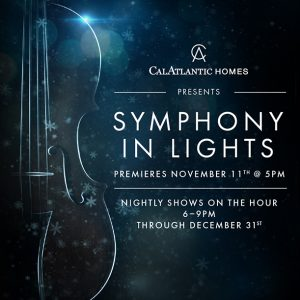 Symphony in Lights Holiday Show at The Shops at Wiregrass