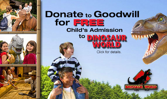 Goodwill-Suncoast Offers BOGO Free Admission to Dinosaur World