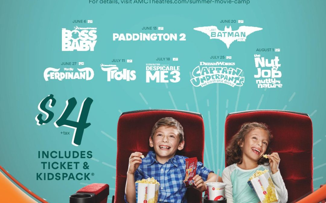 AMC Summer Kids Movies $4 KidsPack