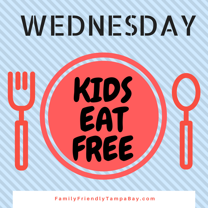 Tampa Bay: Kids Eat Free Offers on Wednesdays