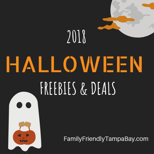 2018 Tampa Bay October & Halloween Freebies & Deals