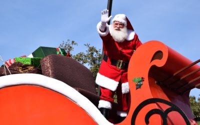 Santa in North Straub Park for St. Petersburg Snow Fest