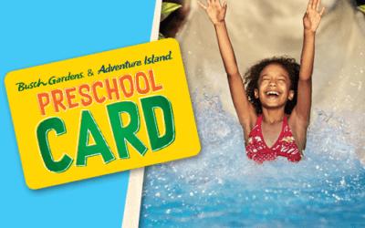 New: Preschool Pass is Back with Busch Gardens & Adventure Island