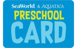 SeaWorld & Aquatica Orlando Preschool Card for 2019
