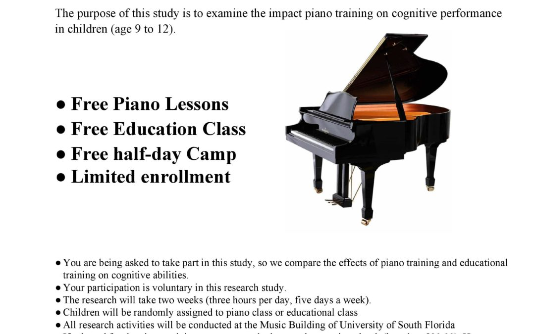 USF Free Piano Lessons Summer Camps