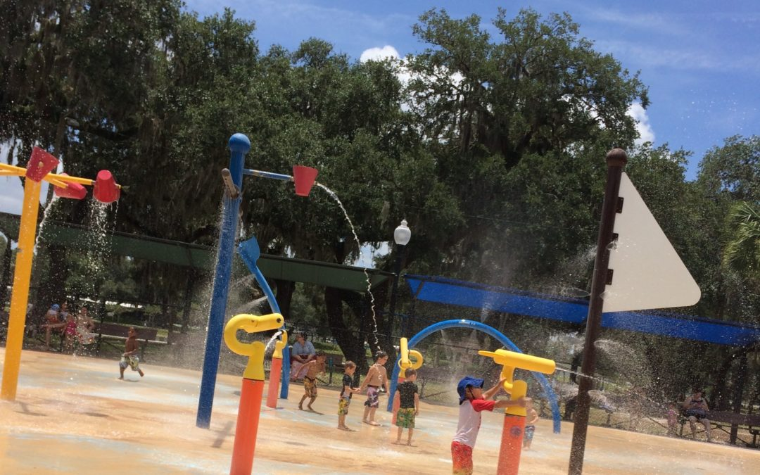 Splash Pad at Zephyr Park in Zephyrhills