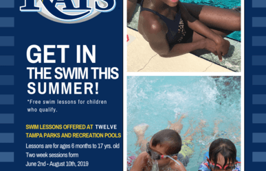 Free Swimming Lessons Through 'Swim with the Rays' Water Safety Program