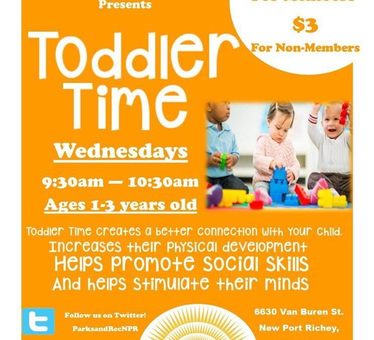 Toddler Time at New Port Richey Recreation & Aquatic Center