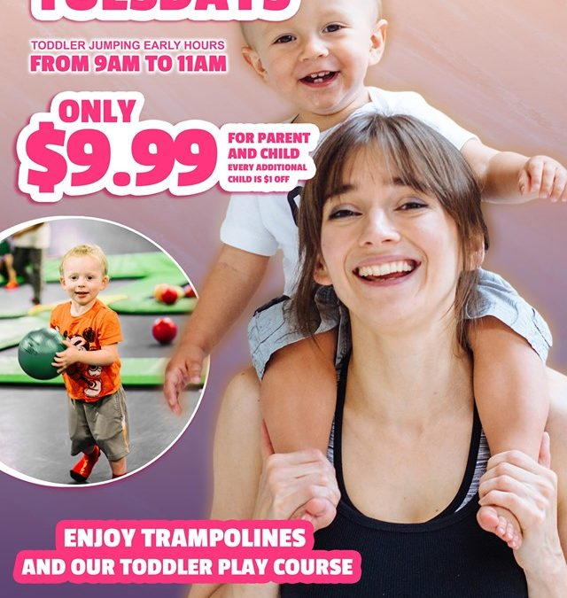 Toddler Tuesdays at Airheads Trampoline Park