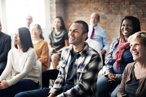 53108593 - corporate seminar conference team collaboration concept