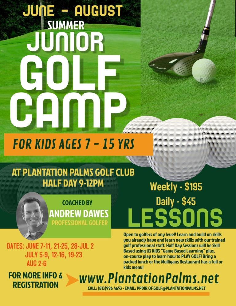 Plantation Palms Golf Club Summer Camps 768x995
